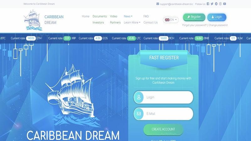 Caribbean Dream - возьми пирата за бороду, доход от 1% в сутки