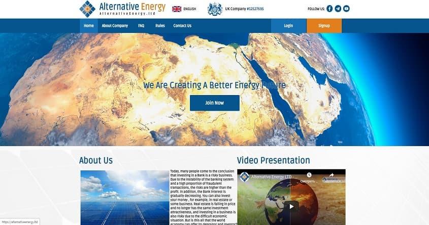 AlternativeEnergy: обзор экологического проекта.  Плачу повышенный рефбек 8%. Есть страховка 150$ на постоянной основе. (Не платит)