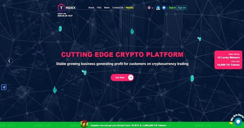 Tridex: обзор криптовалютного хайп проекта, отзывы о tridex.io. Рефбек 10%