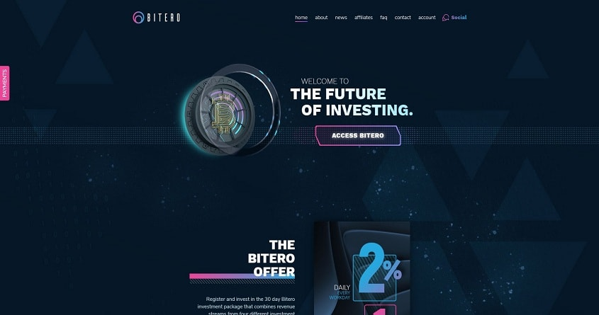 Bitero: обзор проекта копилки, отзывы о Bitero.io. Плачу рефбек 5%, страховка 300$ (Прекратил работу)