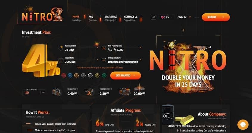 Nitro-x: обзор проекта копилки от топ-админа, отзывы о nitro-x.io. Плачу повышенный рефбек 14%, страховка 400$ (Прекратил работу)