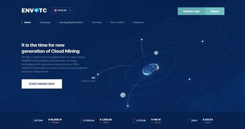Envbtc: обзор о новом майнинг проекте, отзывы о envbtc.com. Плачу рефбек 6% (Прекратил работу)