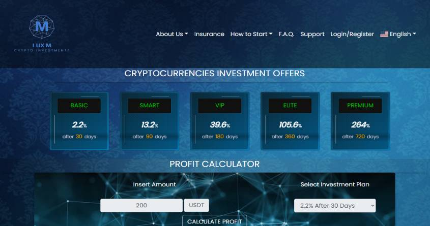 Lux M Ltd: обзор интересного криптовалютного проекта, отзывы о luxcripto.com. Плачу рефбек 10%, страховка 250$
