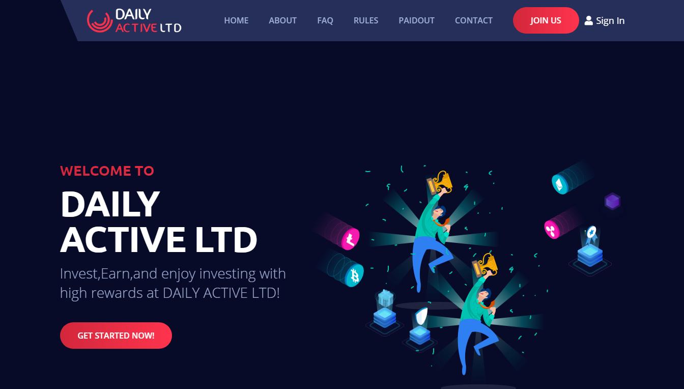 Daily Active Ltd: обзор инвестиционного проекта, отзывы об dailyactive.ltd. Плачу рефбек 0.5% (Прекратил работу)