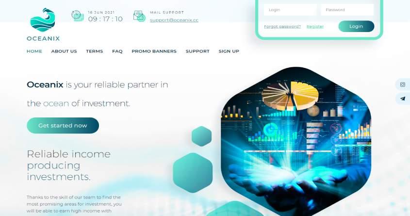 Oceanix: обзор высокодоходного проекта, отзывы об oceanix.cc. Плачу рефбек 15%, страховка 600$ (Прекратил работу)