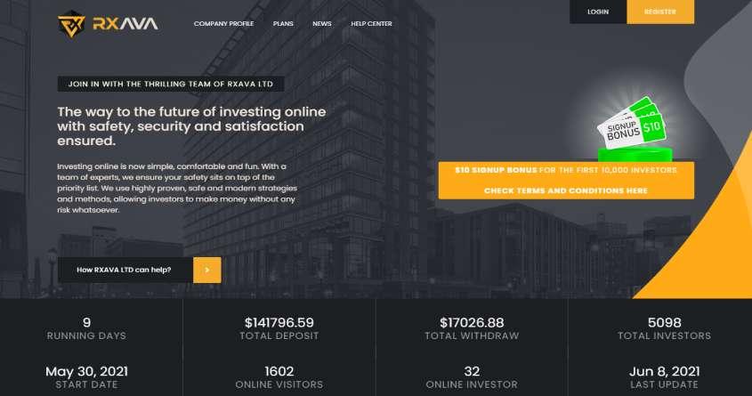 Rxava Ltd: обзор качественного проекта, отзывы об rxava.com. Плачу рефбек 6%, страховка 300$ (Прекратил работу)