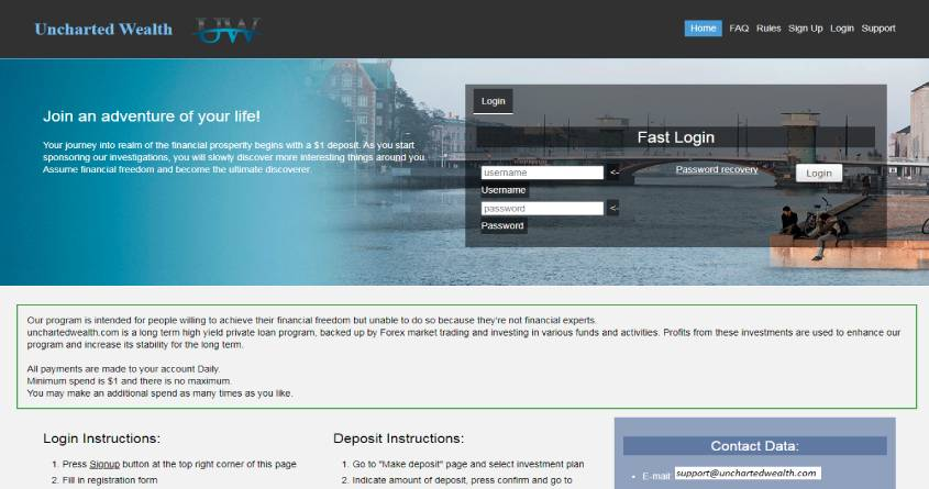 Uncharted Wealth: обзор инвестиционного проекта, отзывы об unchartedwealth.com. Плачу рефбек 2%