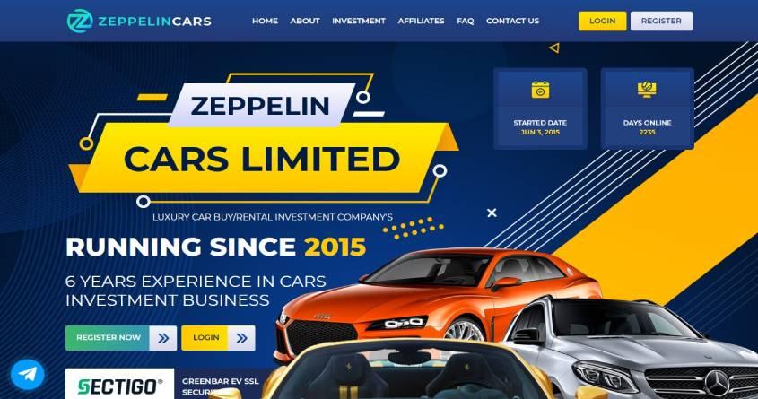 Zeppelincars: обзор инвестиционного проекта, отзывы об zeppelincars.com. Плачу рефбек 5%